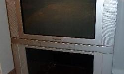 "I have a 27"" Panasonic TV with cabinet, both in good"
